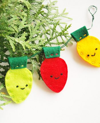 Stitched Christmas Lights