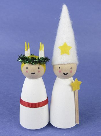 St. Lucia and Star Boy Ornaments
