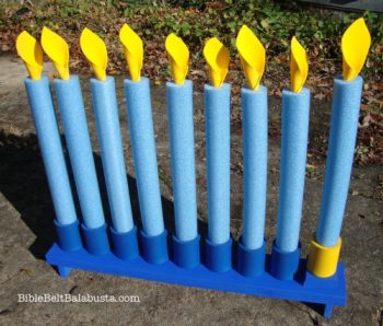 Swim Noodle Menorah