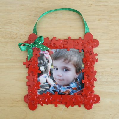 Puzzle Piece Frame Christmas Ornament