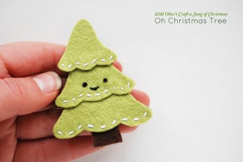 Felt Christmas Tree Pin