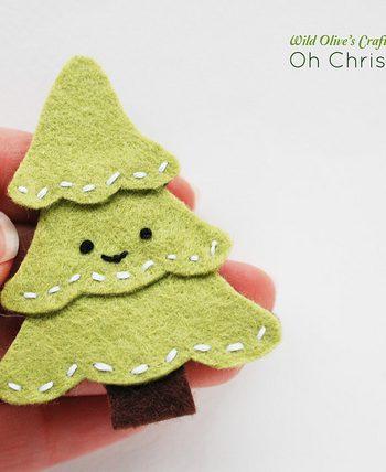 Felt Christmas Tree Pin