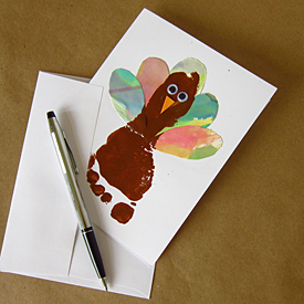 Turkey Footprint Card