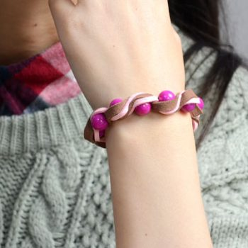 Twisted Suede Cord Bracelet