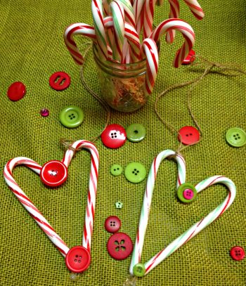 Heart Candycane Ornaments