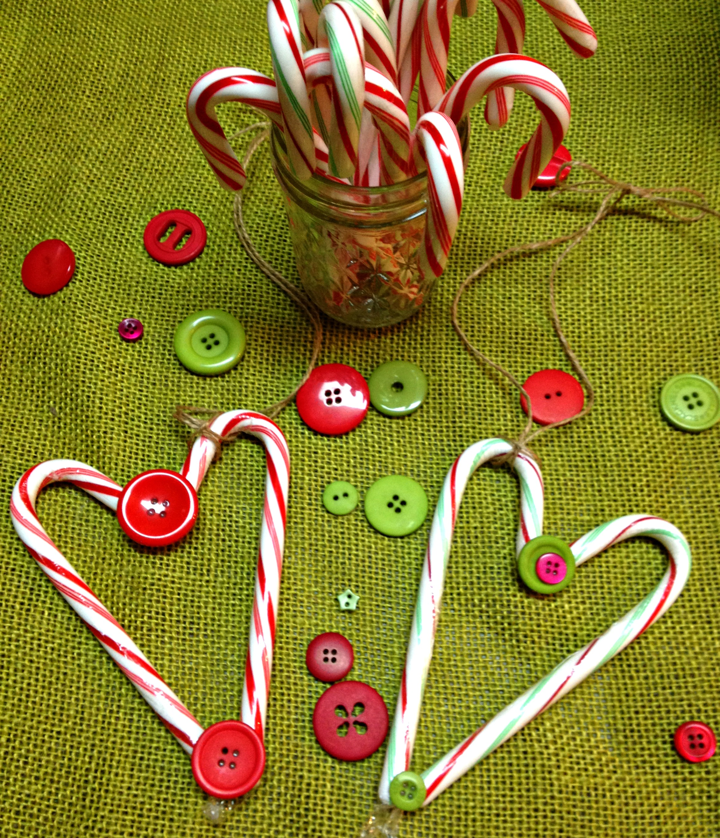 Heart candycane ornaments fun family crafts