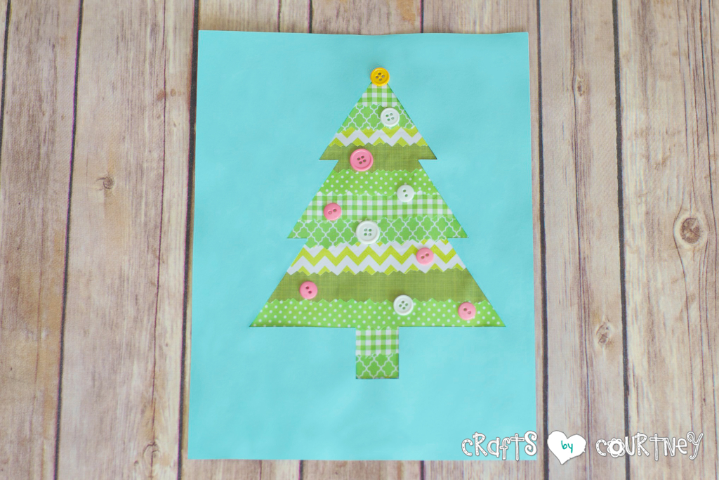 Scrapbook Paper Christmas Tree Silhouette