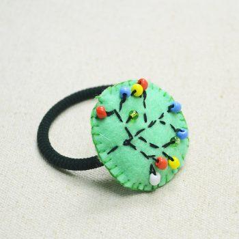 Embroidery Elastic Hair Tie