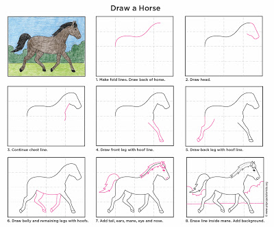 How To Draw A Horse Fun Family Crafts