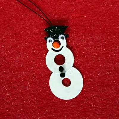 Snowman Washer Necklace