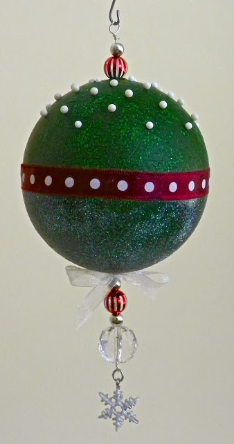 Handmade Christmas Ornament with Beads