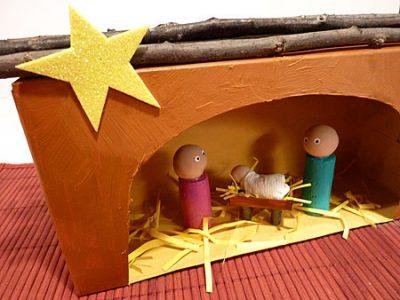 Tissue Box Nativity