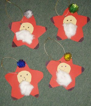 Santa Star Ornaments