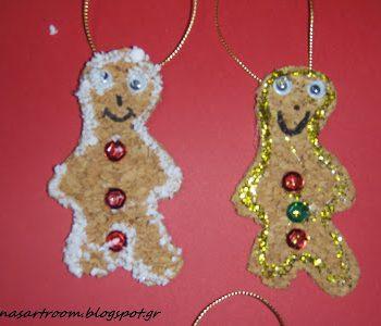 Cork Gingerbread Man Ornaments