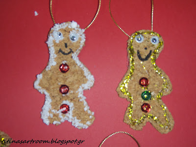 Cork Gingerbread Man Ornaments