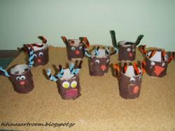 Cardboard tube reindeers