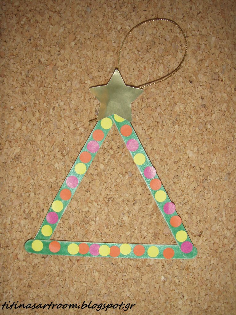 Craft Stick Tree Ornament