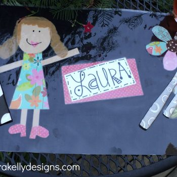 Personalized Paper Crafted Place Mats
