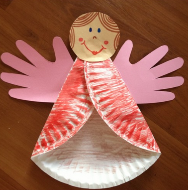 Paper plate angel fun family crafts for Christmas crafts made out of paper plates