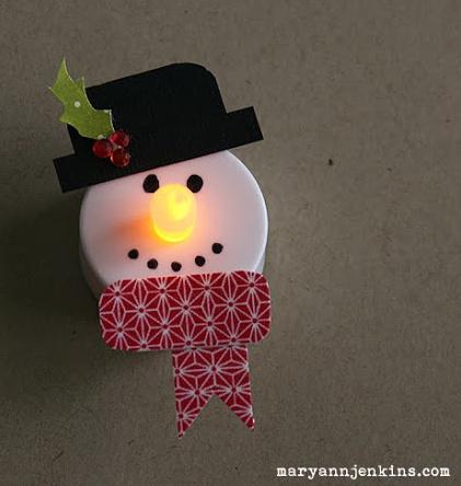 Snowman Tea Lights Fun Family Crafts