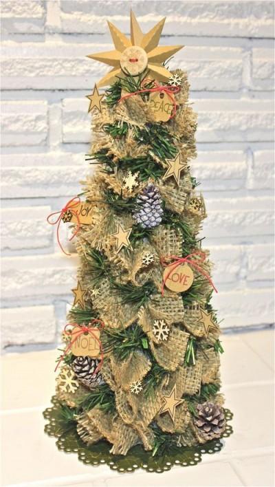 burlap christmas tree - Burlap Christmas Tree