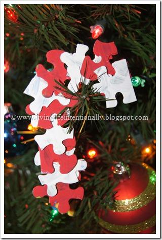 Puzzle Piece Candy Cane