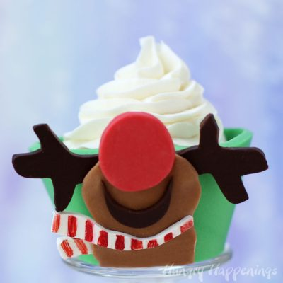 Chocolate Rudolph Cupcake Wrappers