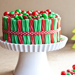 Christmas Twizzler Cake