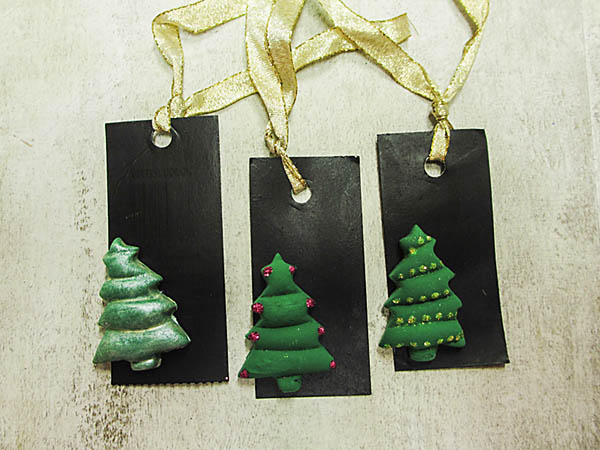 Cloud Clay Christmas Tags