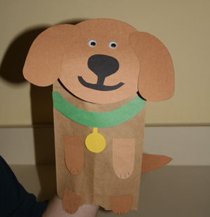 Paper Bag Dog Puppet | Fun Family Crafts