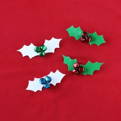 Duct Tape Holly Berry Brooch