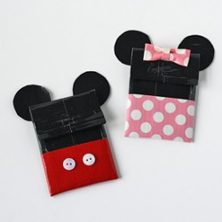 Duct Tape Mickey & Minnie Gift Card Holders
