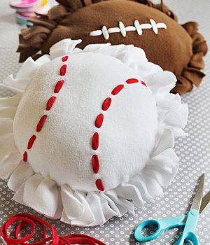 Football and Baseball Pillows