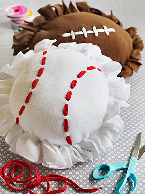 Football and Baseball Pillows
