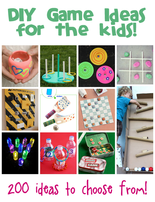 DIY Games Ideas for Kids from @funfamilycrafts