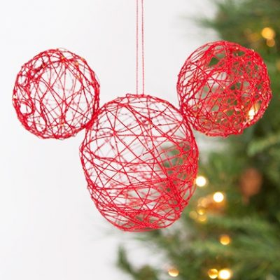 Mickey String Ornament