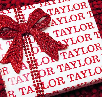 Personalized Name Gift Wrap
