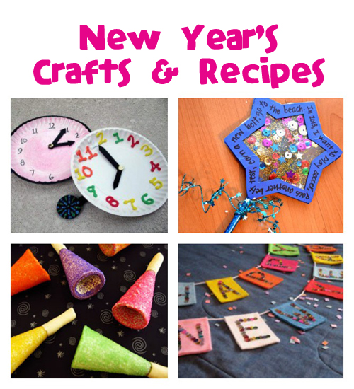 New Year's Crafts & Recipes @funfamilycrafts