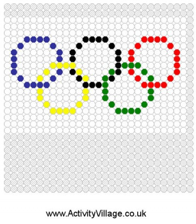 Olympic Flag Fuse Bead Pattern | Fun Family Crafts