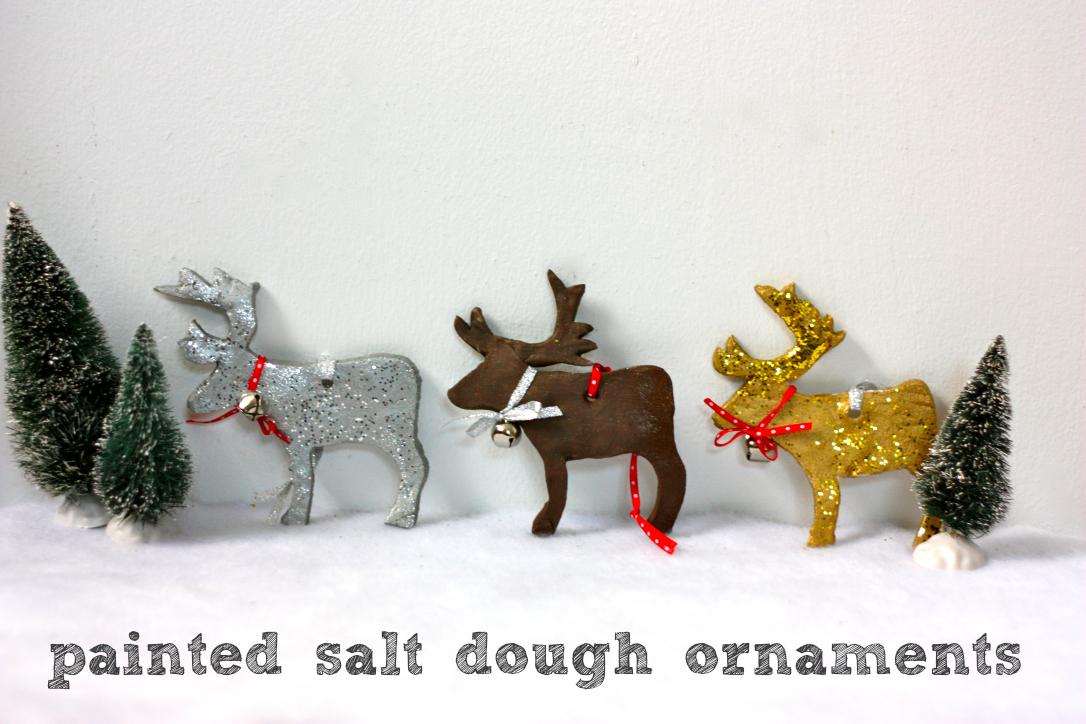 Painted Salt Dough Ornaments Fun Family Crafts