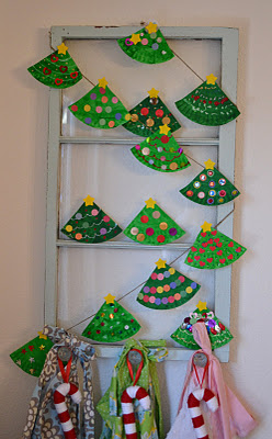Paper Plate Christmas Tree Garland & Paper Plate Christmas Tree Garland | Fun Family Crafts