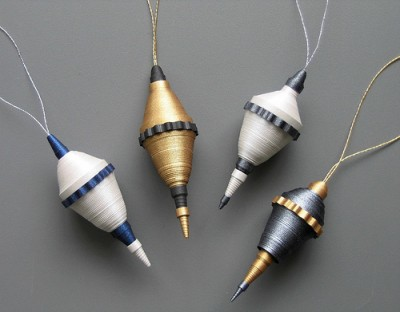 Rolled Paper Christmas Ornaments