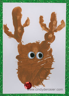 Reindeer Handprint Thank-You Cards