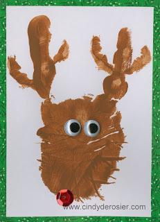 Reindeer Handprint Thank-You Cards