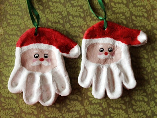 Salt Dough Santa Ornaments