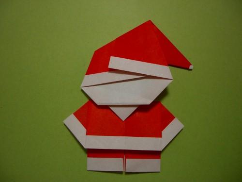 Easy Origami Santa Claus Christmas (diff 3/10) 折り紙 ... | 375x500