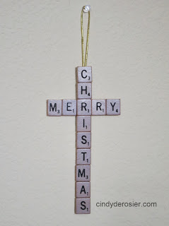 Scrabble Merry Christmas Ornament