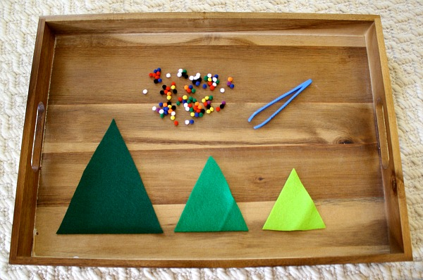 Toddler Fine Motor Christmas Activity