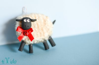 Fluffy Sheep Christmas Ornament