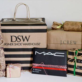 Shopping Bag Holiday Gift Wrap
